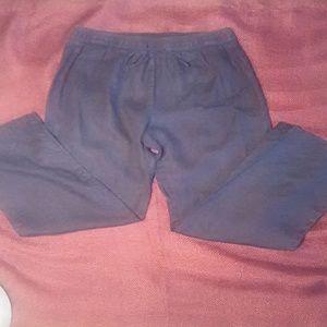 Company by Ellen Tracy linen drawstring pants sz M